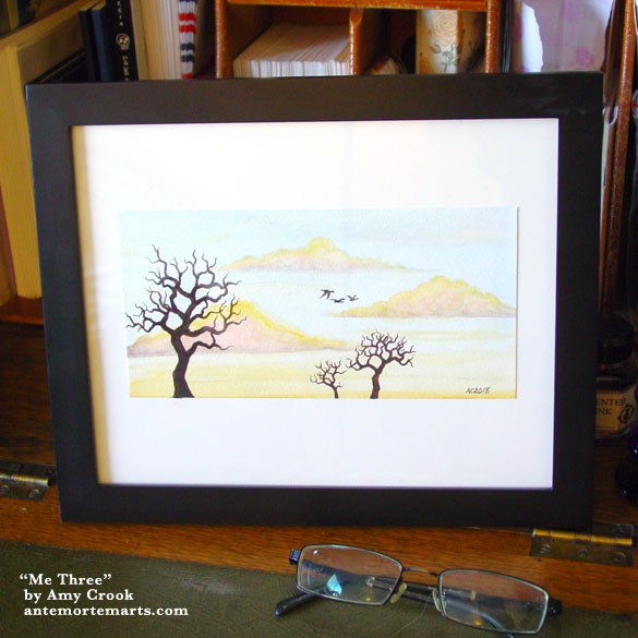 Me Three, framed art by Amy Crook