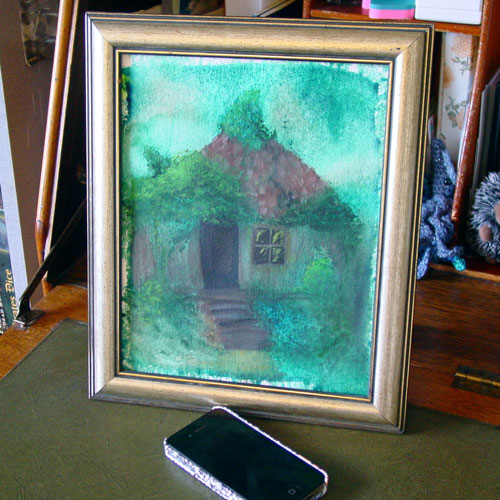 Mercy House, framed art by Amy Crook
