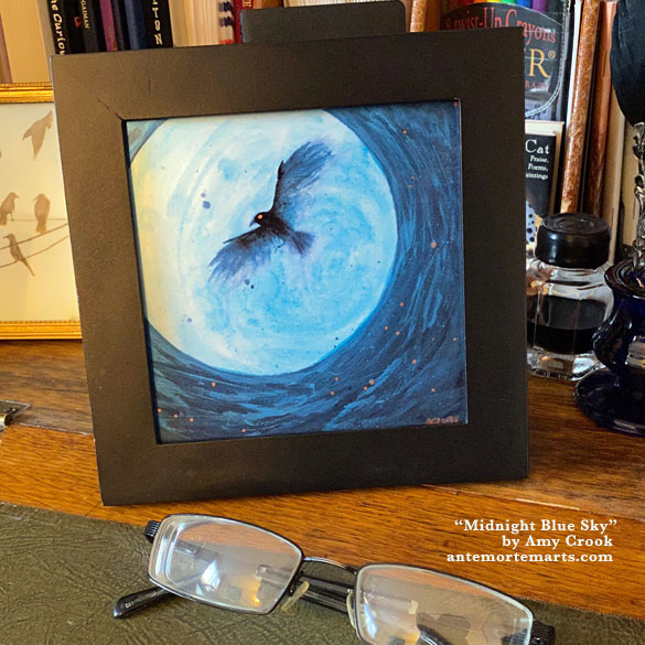 Midnight Blue Sky, framed art by Amy Crook