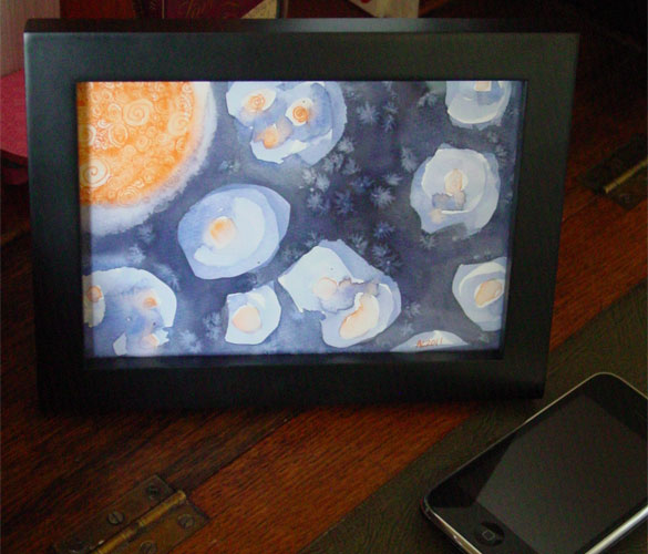 Violet Midnight 2, framed art by Amy Crook
