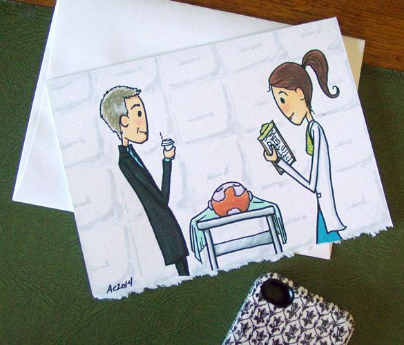 Their Eyes Met, greeting card on Etsy by Amy Crook