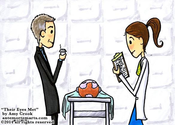 Their Eyes Met, a Sherlock parody comic by Amy Crook