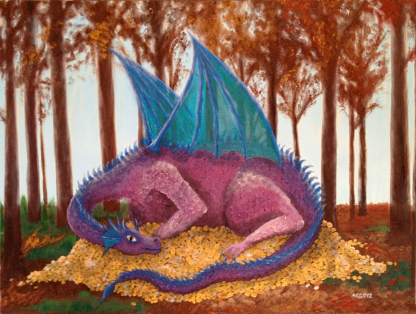 Forest Dragon by Amy Crook, all rights reserved