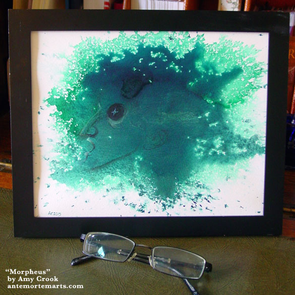 Morpheus, framed art by Amy Crook
