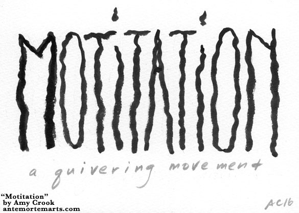 Motitation, word art by Amy Crook