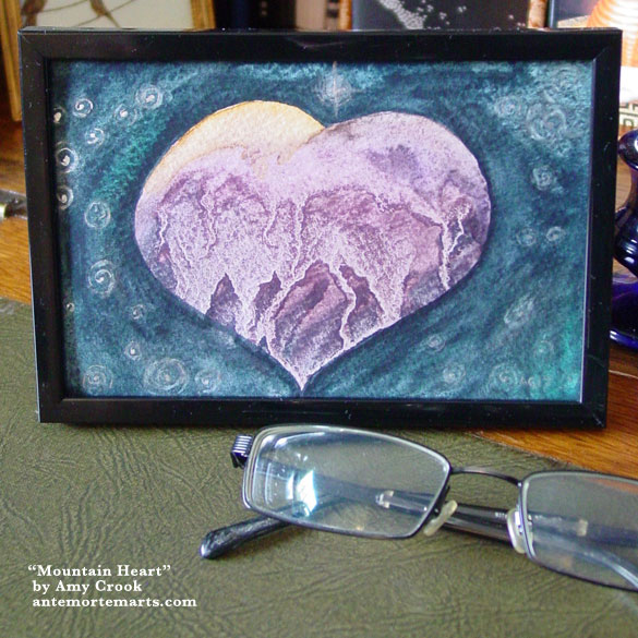 Mountain Heart, framed art by Amy Crook