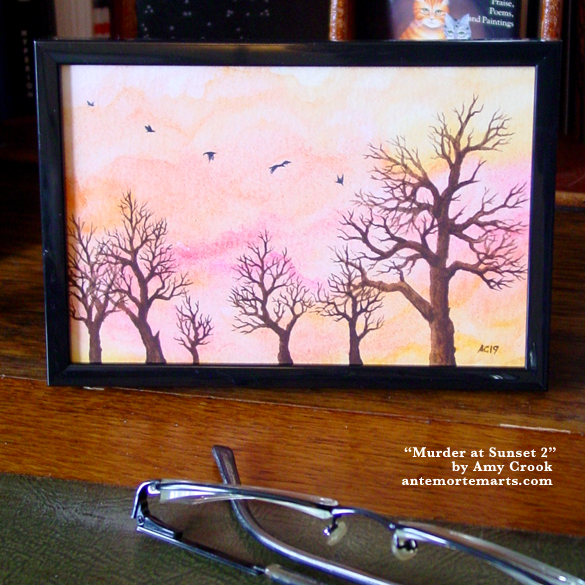 Murder at Sunset 2, framed art by Amy Crook