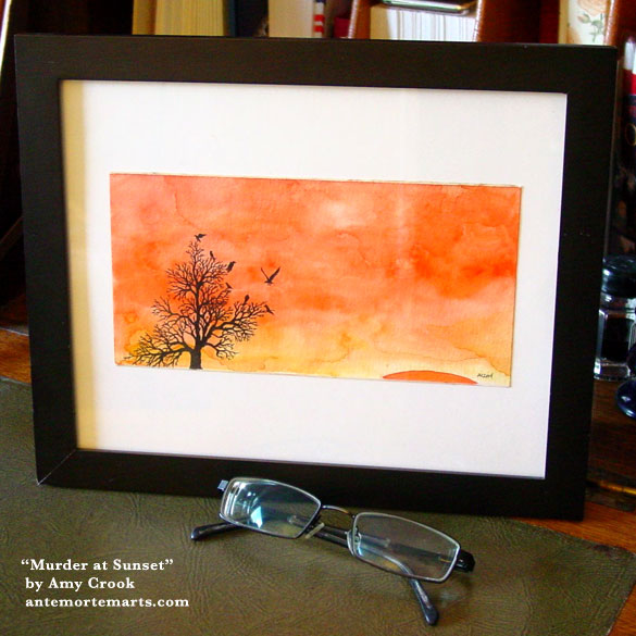 Murder at Sunset, framed art by Amy Crook