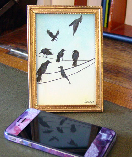 A Murder of Crows 2, framed art by Amy Crook