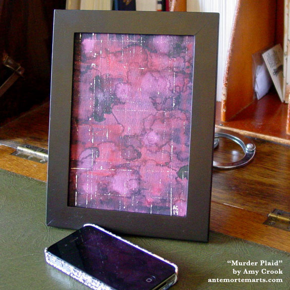 Murder Plaid, framed art by Amy Crook