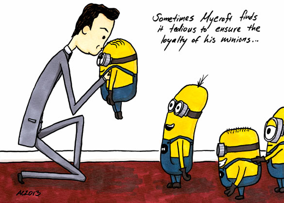 Mycroft's Minions, parody art by Amy Crook
