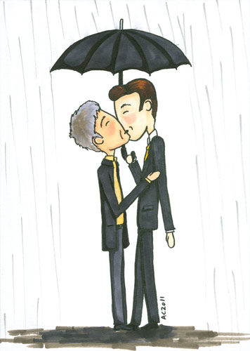 Like Mycroft Loves His Umbrella, cartoon by Amy Crook