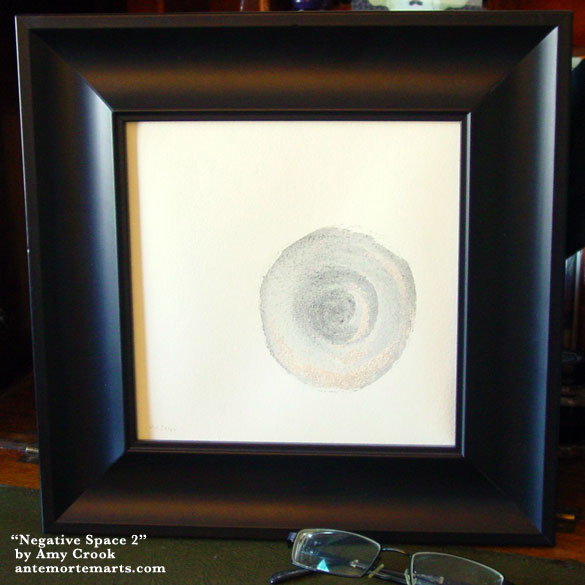 Negative Space 2, framed art by Amy Crook