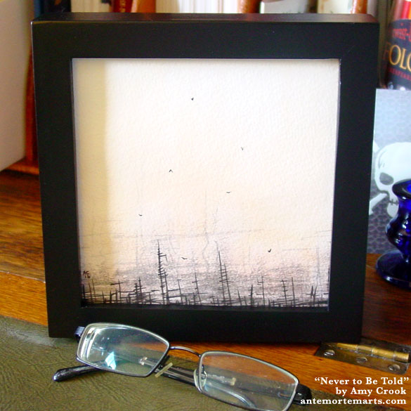 Never to Be Told, framed art by Amy Crook