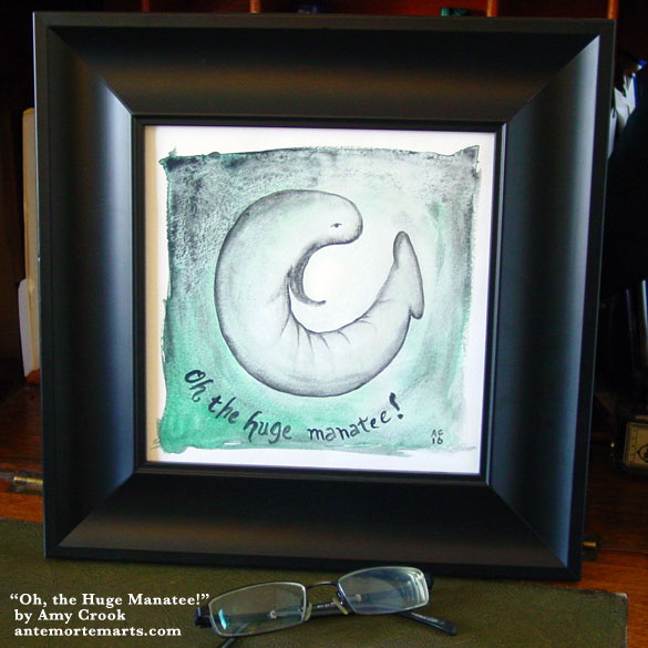 Oh, the Huge Manatee!, framed art by Amy Crook