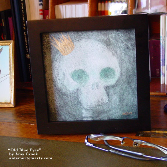 Old Blue Eyes, framed art by Amy Crook