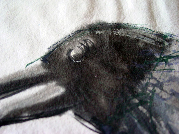 One for Sorrow, detail, by Amy Crook