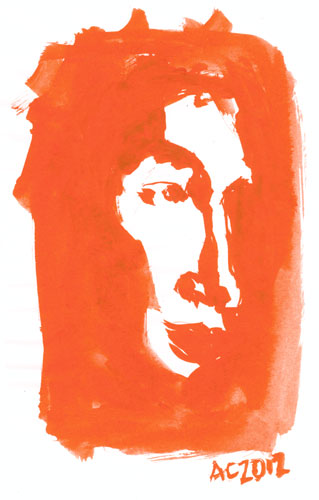Orange Face sketch by Amy Crook