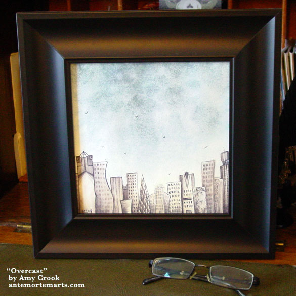 Overcast, framed art by Amy Crook