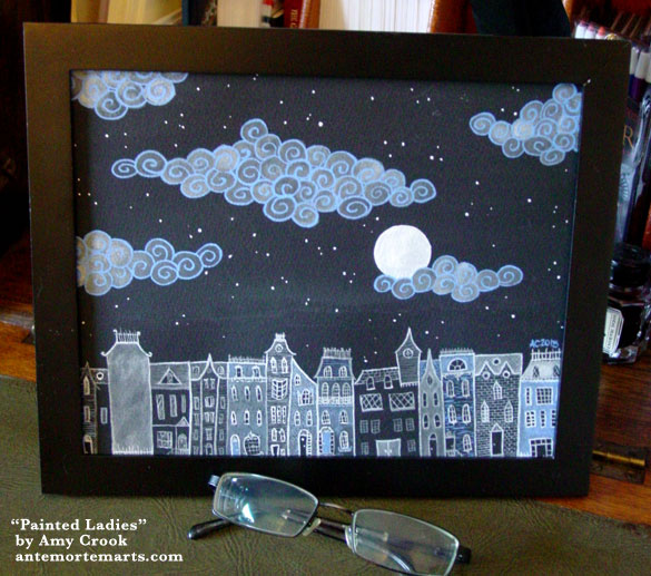 Painted Ladies, framed art by Amy Crook