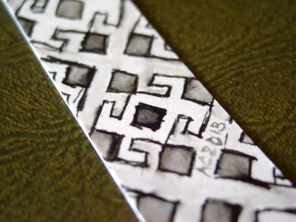 Pattern Bookmark 1, detail, by Amy Crook