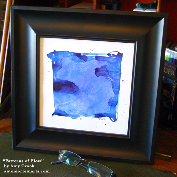 Patterns of Flow, framed art by Amy Crook