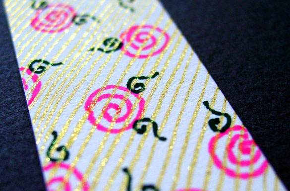 Pink Roses Bookmark, detail, by Amy Crook