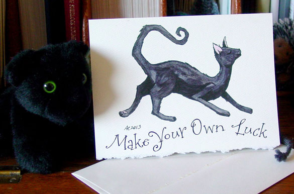 Make Your Own Luck greeting card by Amy Crook at Etsy