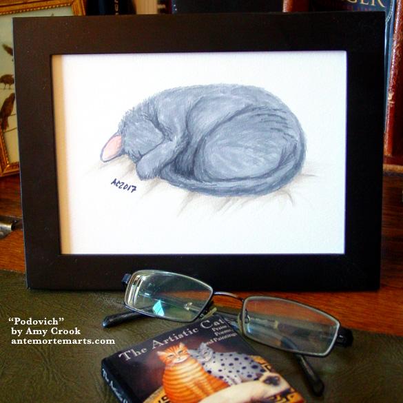 Podovich, framed art by Amy Crook