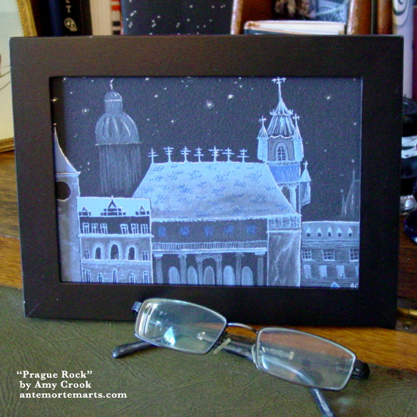 Prague Rock, framed art by Amy Crook