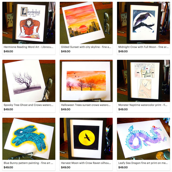 fine art prints by Amy Crook at Etsy