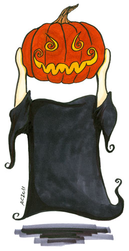 Pumpkinhead cartoon by Amy Crook