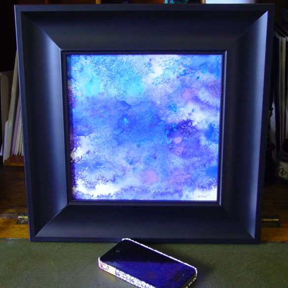 Blue Violet, framed art by Amy Crook