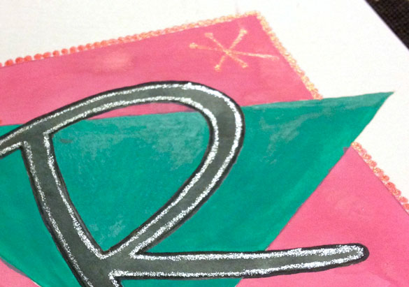 R is for Retro, detail, by Amy Crook