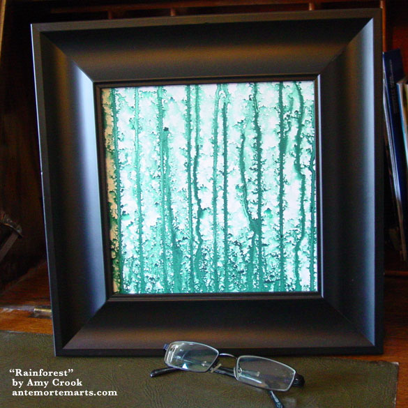 Rainforest, framed art by Amy Crook