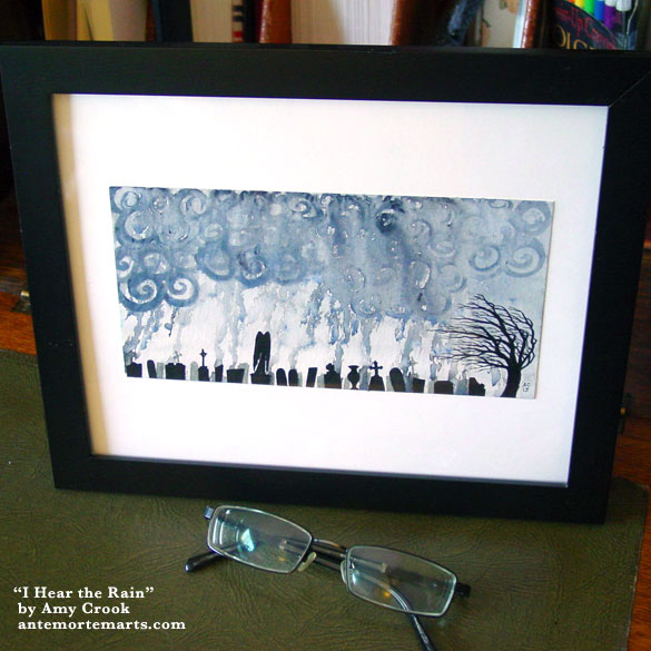 I Hear the Rain, framed art by Amy Crook