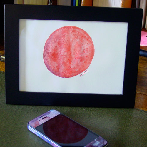 Red Planet 2, framed art by Amy Crook