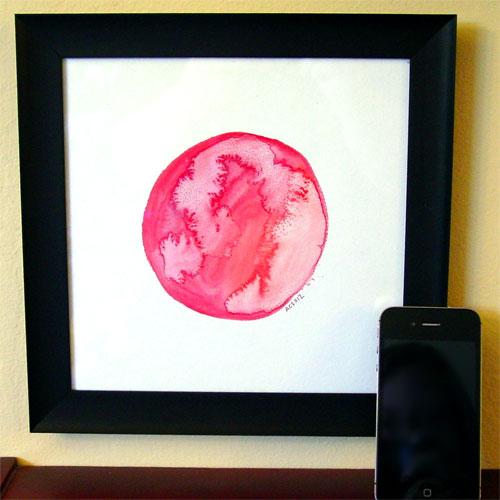 Red Planet, framed, by Amy Crook