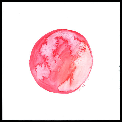 Red Planet, watercolor by Amy Crook