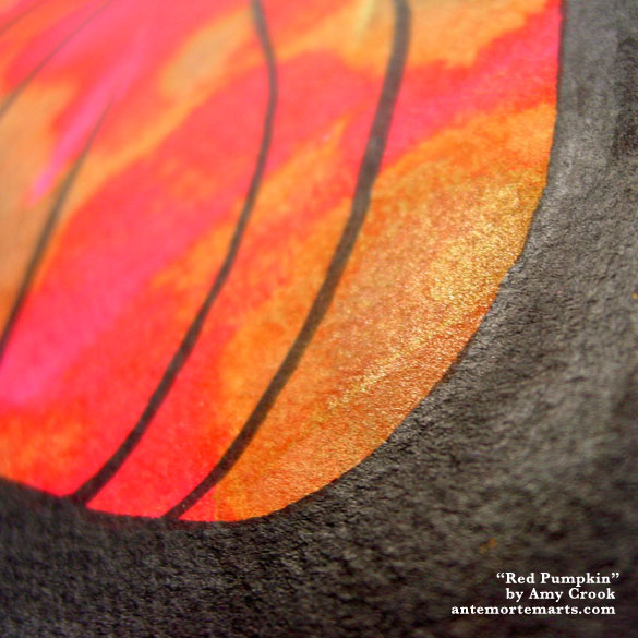 Red Pumpkin, detail, by Amy Crook