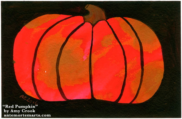 Red Pumpkin by Amy Crook