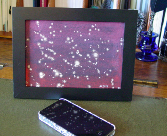 Red Sky Firefly, framed art by Amy Crook