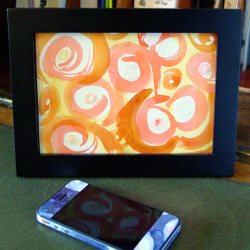 Rhymes With Orange, framed art by Amy Crook