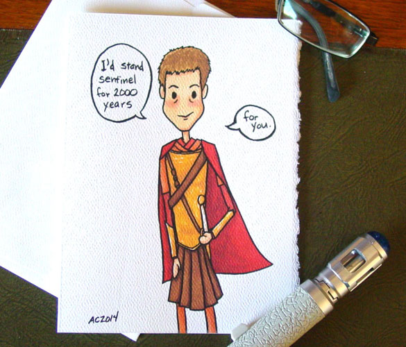 Centurion, a Doctor Who Valentine by Amy Crook on Etsy