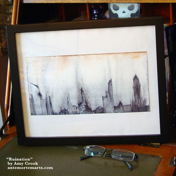 Ruination, framed art by Amy Crook