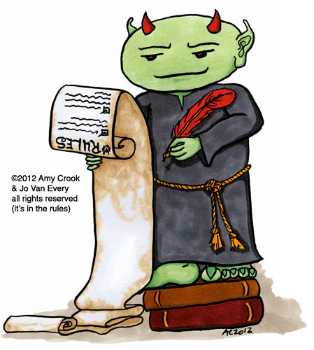 Rules Gremlin by Amy Crook for Jo Van Every