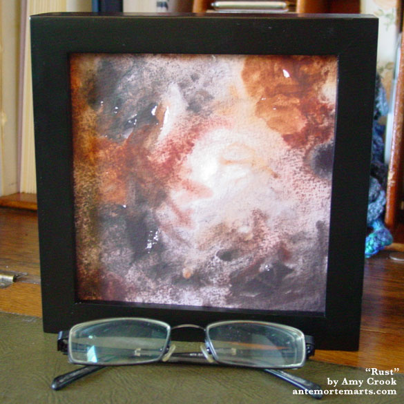 Rust, framed art by Amy Crook