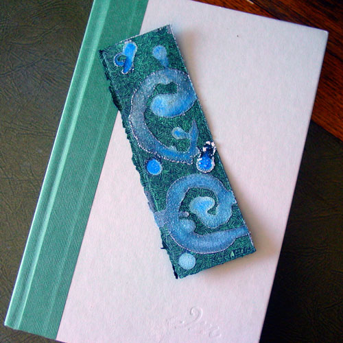Salt Bookmark 3, with book, by Amy Crook