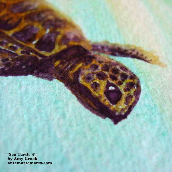 Sea Turtle 4, detail, by Amy Crook