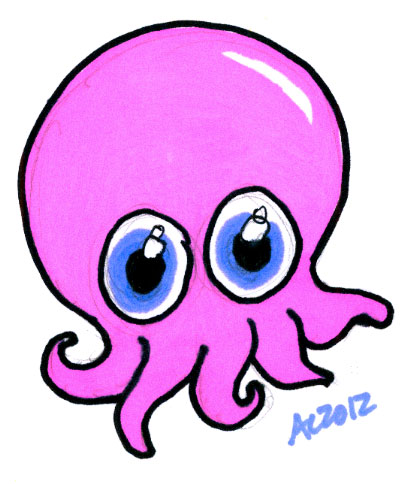 Sharpie Baaaaaaaby Octopus sketch by Amy Crook